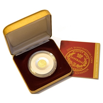 2005 $1 Proof Coin - 1855 Sydney Half Sovereign
